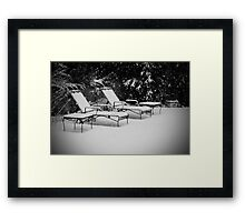 Bed of Snow Framed Print