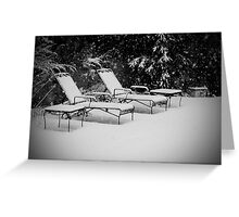 Bed of Snow Greeting Card