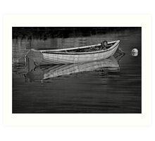 Boat Peggys Cove 39 BW Art Print