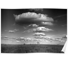 Clouds in the Everglades BW 0009 Poster