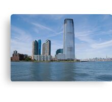 A power city on the river Canvas Print