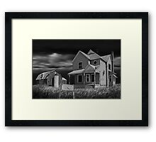 Decline of the Small Farm 6 BW Framed Print