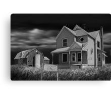 Decline of the Small Farm 6 BW Canvas Print
