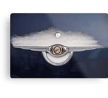 CarSnow: Stainless on Blue Metal Print