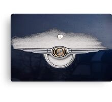 CarSnow: Stainless on Blue Canvas Print