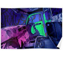 Edmonton Truck Digitally Colorized Poster