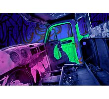 Edmonton Truck Digitally Colorized Photographic Print