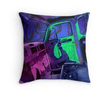 Edmonton Truck Digitally Colorized Throw Pillow