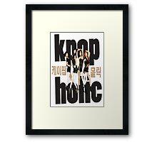korea pop music holic Framed Print