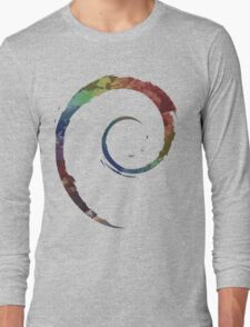 Colorful Debian Long Sleeve T-Shirt