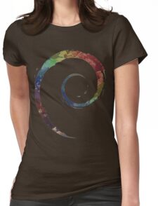 Colorful Debian Womens Fitted T-Shirt