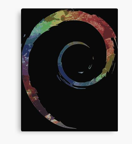 Colorful Debian Canvas Print