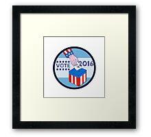 Vote 2016 Hand Ballot Box Circle Etching Framed Print