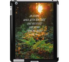 Walk with nature iPad Case/Skin