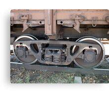 Detail closeup of a railroad car Canvas Print