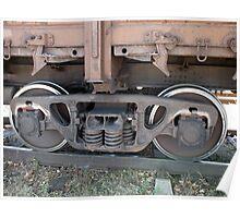 Detail closeup of a railroad car Poster