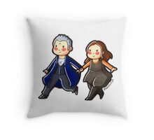 Just the Doctor and Clara Oswald in the TARDIS! Throw Pillow