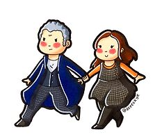 Just the Doctor and Clara Oswald in the TARDIS! by Demetria Skye Logan
