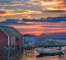 Last Light at Peggy's Cove by Randall Nyhof