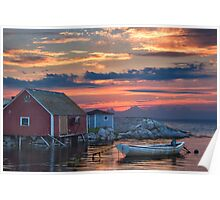 Last Light at Peggy's Cove Poster