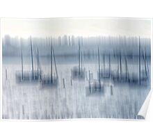 Maine Harbor Abstraction Poster