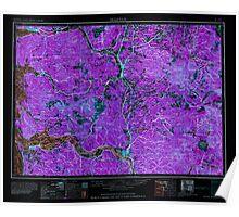 USGS Topo Map Washington Hoquiam 239708 1962 250000 Inverted Poster