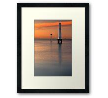 Dawn at Port Melbourne #2 Framed Print