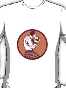 Scotsman Weight Throw Circle Retro T-Shirt
