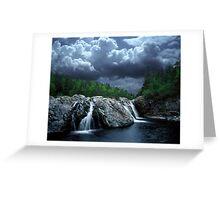 Aguasabon River Falls Greeting Card
