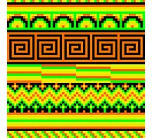 pixel pattern hipster shizzle  Photographic Print