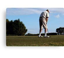 The Golfer Canvas Print