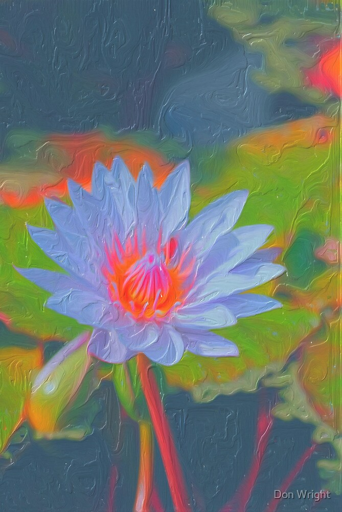 Water Lily Impasto by Don Wright