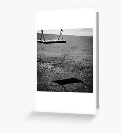 swing of shadows Greeting Card