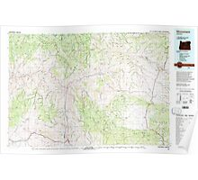 USGS Topo Map Oregon Monument 283104 1980 100000 Poster