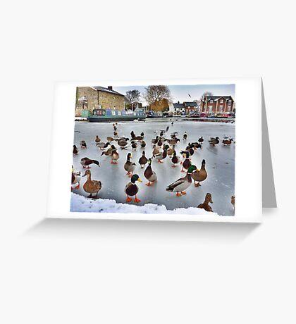 The Frozen Garstang Basin . Greeting Card