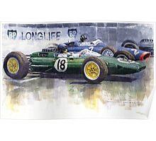 French GP 1963 Start Lotus vs BRM Poster