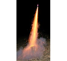 A firework in the night Photographic Print