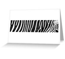 Zebra - Best viewed larger Greeting Card