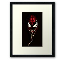 Venom  ft Spiderman  Framed Print