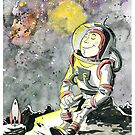 Resting Spaceman by tupa