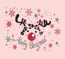 Merry Christmas reindeer One Piece - Short Sleeve