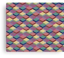 Geometric Cube Pattern Canvas Print