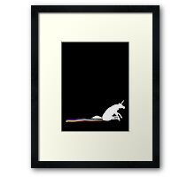 GO SHIT SOME RAINBOWS Framed Print