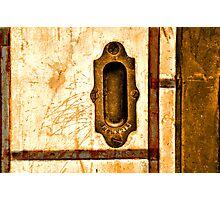 Old Door - Stockyards Fort Worth Texas Photographic Print