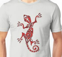 Lizard Tattoo Red Unisex T-Shirt