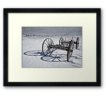 Wagon Chassis at Fayette MI 184 Framed Print