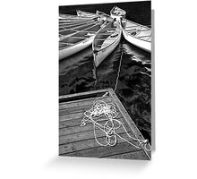 Whistler Canoes 0970 BW Greeting Card