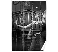 Window Display What Next BW Poster