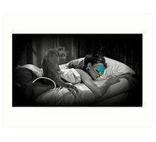 Holly and Cat - Breakfast at Tiffany's Art Print