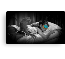 Holly and Cat - Breakfast at Tiffany's Canvas Print